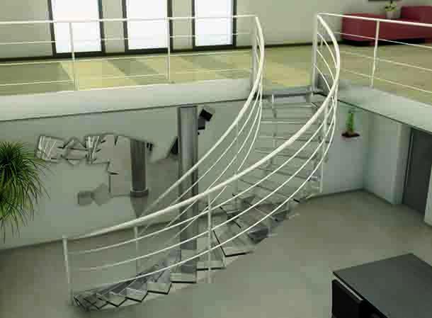 Escalier Miroiterie du Grang Maghreb